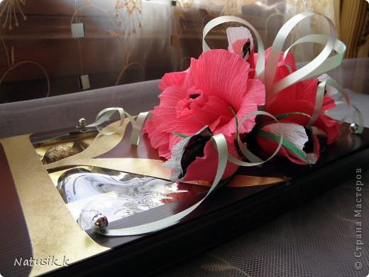 Декор предметов, Свит-дизайн Моделирование: ОФОРМЛЯШКИ Бумага гофрированная 8 марта. Фото 5