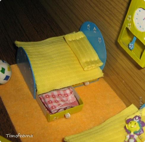 Игрушка, Мастер-класс Моделирование: Спаленка из спичечных коробков Коробки спичечные, Краска, Материал бросовый, Пластилин, Ткань 8 марта, День защиты детей, День рождения. Фото 3