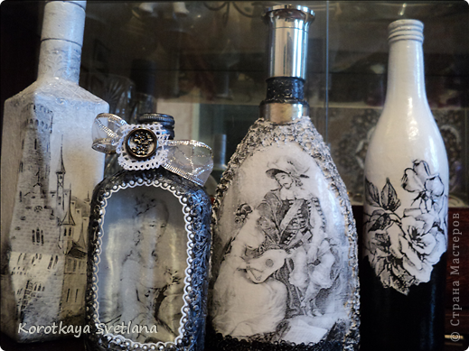 Красивый декупаж бутылок фото