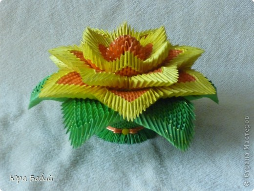 Лилия модульное оригами схемы сборки