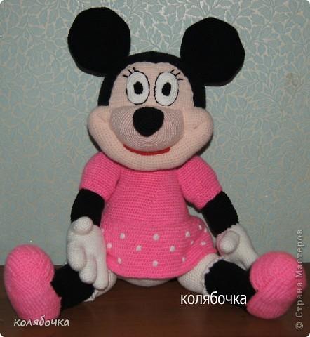 Игрушка Вязание крючком: Мышка Мини-Маус.  Пряжа.  Фото 1.