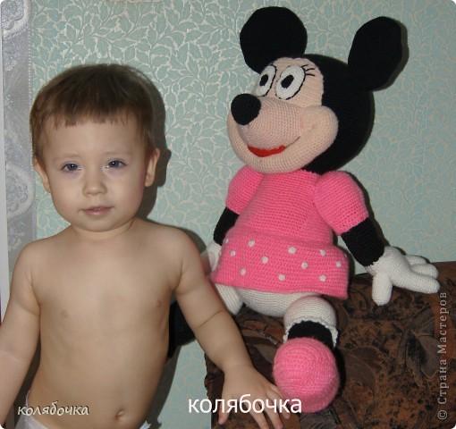 Игрушка Вязание крючком: Мышка Мини-Маус.  Пряжа.  Фото 4.