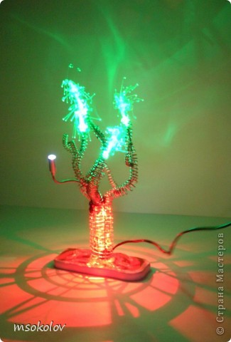 Мастер-класс: ночник - дерево Проволока День рождения. Фото 1