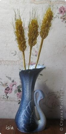 Поделка, изделие Бисероплетение: Золотые колоски Бисер, Нитки, Проволока. Фото 1