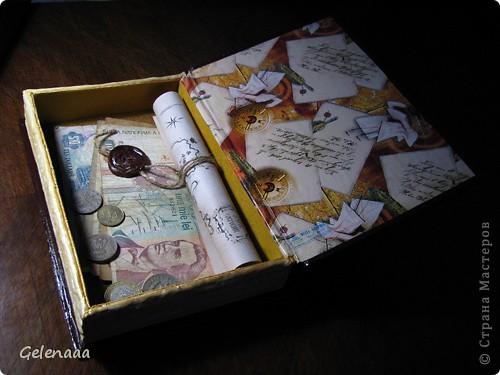 Декор предметов, Мастер-класс: Книга-шкатулка 23 февраля, 8 марта, День рождения, День учителя. Фото 12