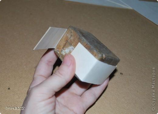 Мастер-класс Папье-маше: Шкатулка из картона Гуашь, Картон 8 марта, День рождения. Фото 4