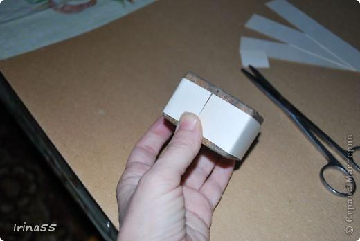 Мастер-класс Папье-маше: Шкатулка из картона Гуашь, Картон 8 марта, День рождения. Фото 5