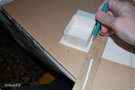 Мастер-класс Папье-маше: Шкатулка из картона Гуашь, Картон 8 марта, День рождения. Фото 11