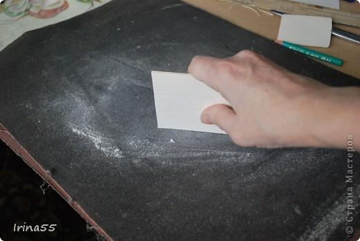 Мастер-класс Папье-маше: Шкатулка из картона Гуашь, Картон 8 марта, День рождения. Фото 12