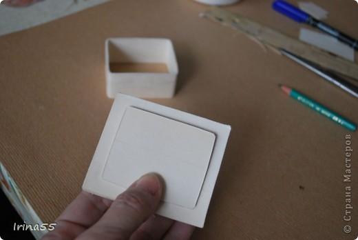 Мастер-класс Папье-маше: Шкатулка из картона Гуашь, Картон 8 марта, День рождения. Фото 13