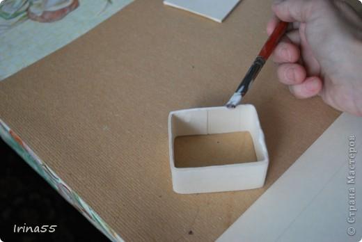 Мастер-класс Папье-маше: Шкатулка из картона Гуашь, Картон 8 марта, День рождения. Фото 14