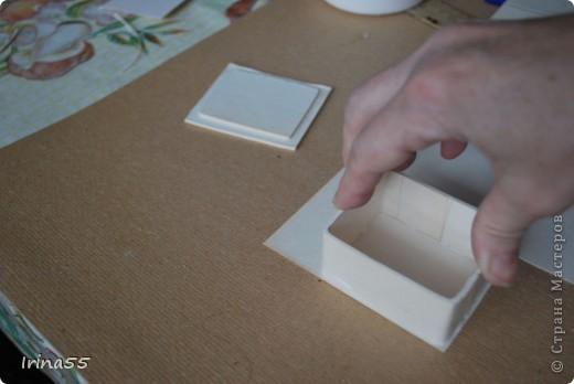 Мастер-класс Папье-маше: Шкатулка из картона Гуашь, Картон 8 марта, День рождения. Фото 15