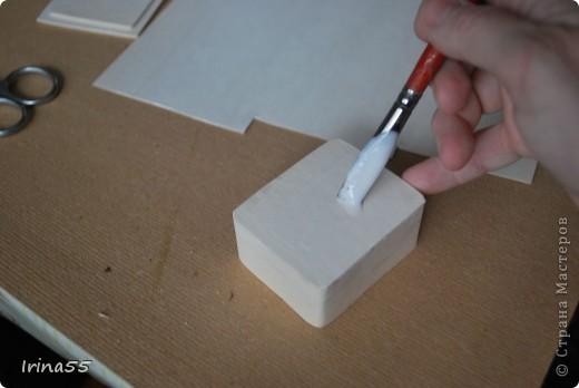 Мастер-класс Папье-маше: Шкатулка из картона Гуашь, Картон 8 марта, День рождения. Фото 16