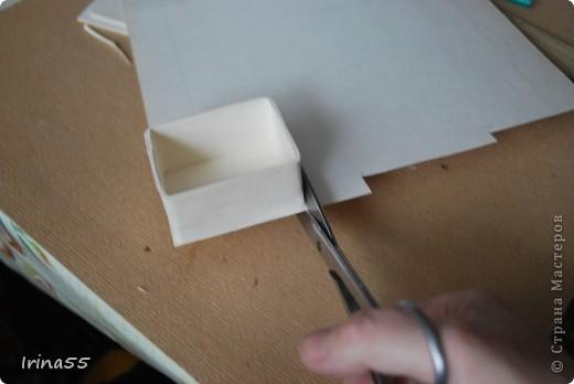 Мастер-класс Папье-маше: Шкатулка из картона Гуашь, Картон 8 марта, День рождения. Фото 17