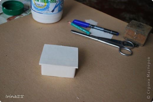 Мастер-класс Папье-маше: Шкатулка из картона Гуашь, Картон 8 марта, День рождения. Фото 20