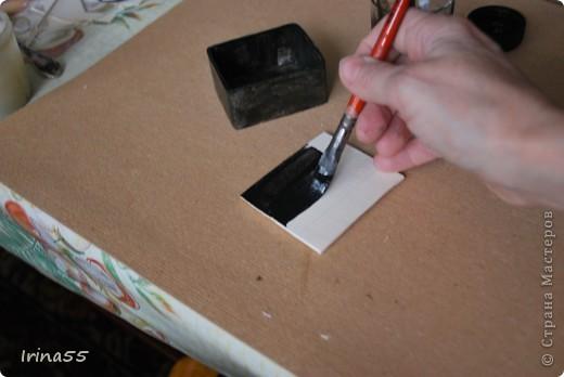Мастер-класс Папье-маше: Шкатулка из картона Гуашь, Картон 8 марта, День рождения. Фото 21