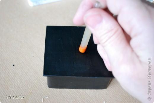 Мастер-класс Папье-маше: Шкатулка из картона Гуашь, Картон 8 марта, День рождения. Фото 22
