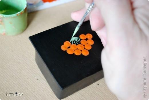 Мастер-класс Папье-маше: Шкатулка из картона Гуашь, Картон 8 марта, День рождения. Фото 24