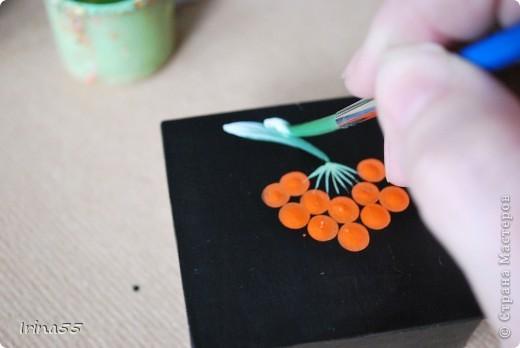 Мастер-класс Папье-маше: Шкатулка из картона Гуашь, Картон 8 марта, День рождения. Фото 25