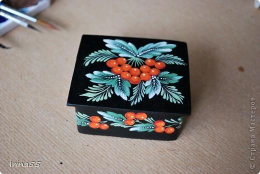 Мастер-класс Папье-маше: Шкатулка из картона Гуашь, Картон 8 марта, День рождения. Фото 28