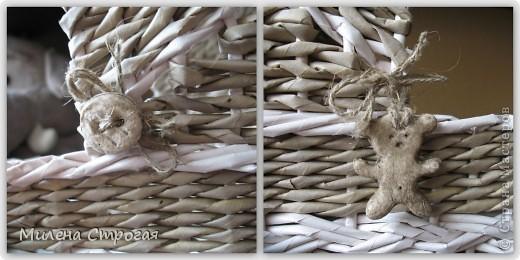 Мастер-класс Декупаж, Плетение: Люлька для кукол  Бумага газетная, Бумажные полосы, Краска 8 марта, День защиты детей. Фото 14