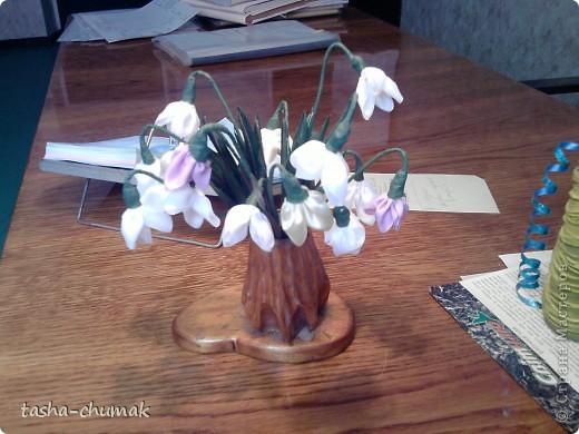 Декор предметов, Мастер-класс, Поделка, изделие: Первые цветочки- весны звоночки Ленты, Пенопласт, Проволока 8 марта. Фото 19
