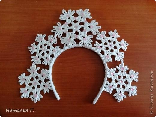 Ободок из снежинок своими руками