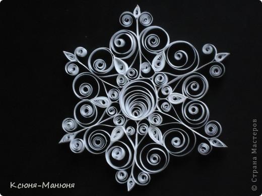 Поделка, изделие Квиллинг: Снежинки Бумажные полосы Новый год. Фото 2