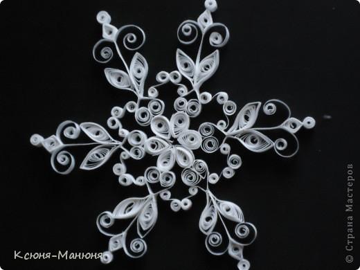 Поделка, изделие Квиллинг: Снежинки Бумажные полосы Новый год. Фото 4