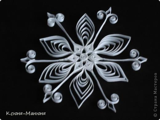 Поделка, изделие Квиллинг: Снежинки Бумажные полосы Новый год. Фото 5