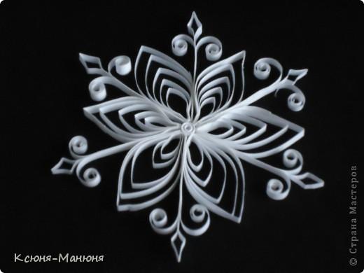 Поделка, изделие Квиллинг: Снежинки Бумажные полосы Новый год. Фото 6