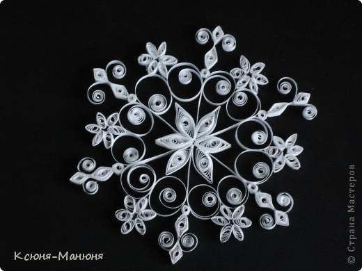 Поделка, изделие Квиллинг: Снежинки Бумажные полосы Новый год. Фото 7