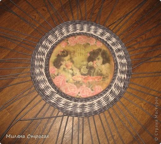 Мастер-класс Декупаж, Плетение: Шляпная коробка Бумага газетная, Салфетки. Фото 7