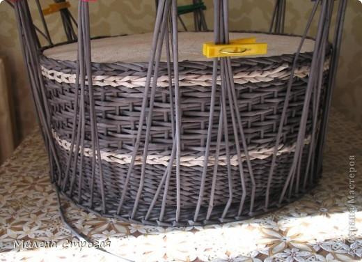 Мастер-класс Декупаж, Плетение: Шляпная коробка Бумага газетная, Салфетки. Фото 9