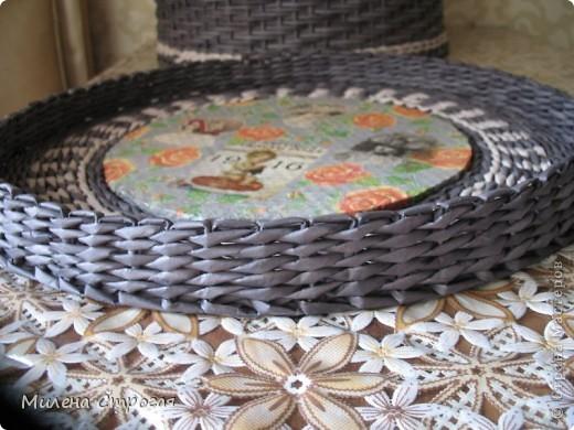 Мастер-класс Декупаж, Плетение: Шляпная коробка Бумага газетная, Салфетки. Фото 11
