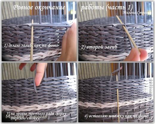 Мастер-класс Декупаж, Плетение: Шляпная коробка Бумага газетная, Салфетки. Фото 5