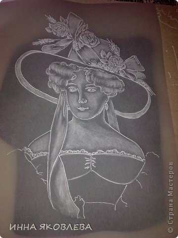 Картина, рисунок, панно, Мастер-класс Пергамано: Портрет в технике пергамано.Формат А4 Бумага. Фото 5