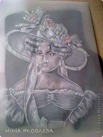 Картина, рисунок, панно, Мастер-класс Пергамано: Портрет в технике пергамано.Формат А4 Бумага. Фото 7