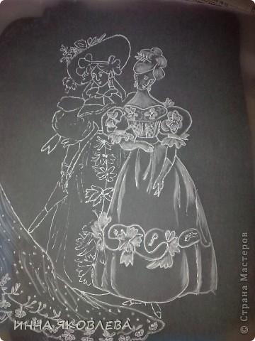 Картина, рисунок, панно Пергамано: ДАМЫ -