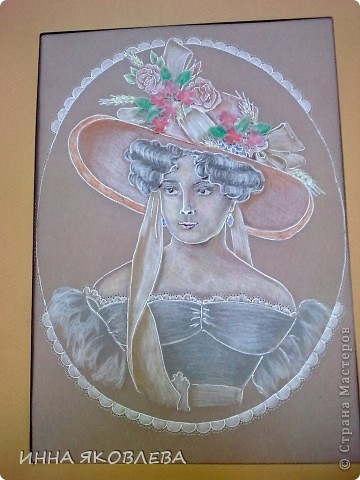Картина, рисунок, панно, Мастер-класс Пергамано: Портрет в технике пергамано.Формат А4 Бумага. Фото 1