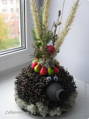 Мастер-класс, Поделка, изделие: Ежик с букетом День рождения, Отдых, Праздник осени. Фото 1