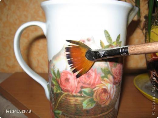 Декор предметов, Мастер-класс Декупаж: как из одношагового кракелюра сделать двухшаговый Салфетки Отдых. Фото 4
