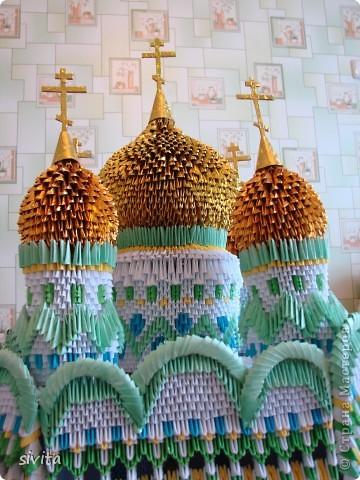 Поделка, изделие Оригами модульное: Церковь. Бумага. Фото 4