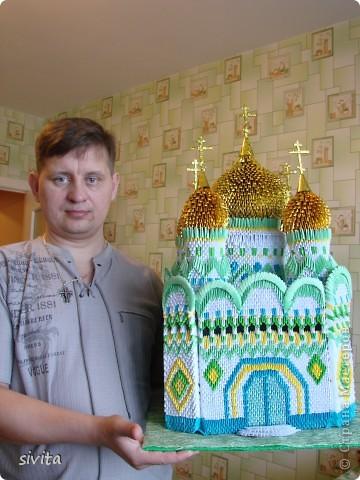 Поделка, изделие Оригами модульное: Церковь. Бумага. Фото 5