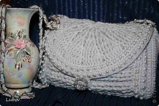 Мастер-класс, Поделка, изделие, Презент от Голубки Вязание крючком: Вечерняя сумочка с бусинами. Бусинки, Пряжа. Фото 47