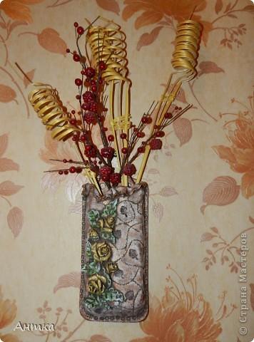 Интерьер, Мастер-класс, Поделка, изделие Лепка: Вазы настенные Тесто соленое День рождения. Фото 6