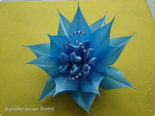 Мастер-класс Цумами Канзаши: еще цветочек Ленты. Фото 1