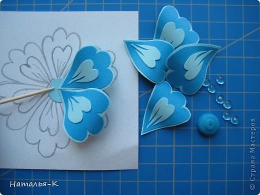 Цветы своими руками аппликации из картона