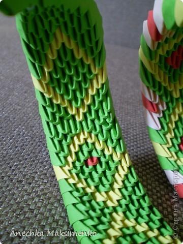 Мастер-класс, Поделка, изделие Оригами модульное: МК кобры Бумага. Фото 10