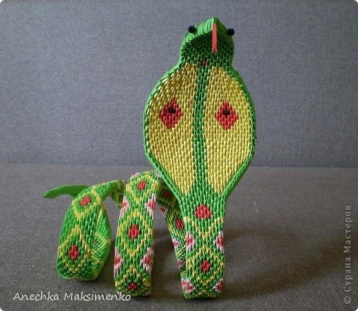 Мастер-класс, Поделка, изделие Оригами модульное: МК кобры Бумага. Фото 14